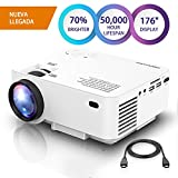 DBPOWER Mini Beamer, 2200 Lumen HD 1080P LED Video Projektor mit 176
