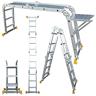 Abbey Aluminium Multi-Purpose Ladder 3.4m with New Safety Platform MPL34
