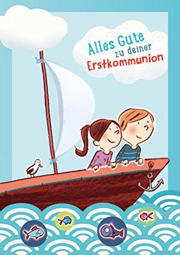 Alles Gute zu deiner Erstkommunion: Glückwunschkarte