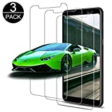 Luckyer [lot de 3] Verre Trempé pour Samsung Galaxy A8 2018, Film Protection écran en Verre Trempé Samsung Galaxy A8 2018, Dureté 9H,99% Transparent,Anti-rayure,Sans Bulles d'air