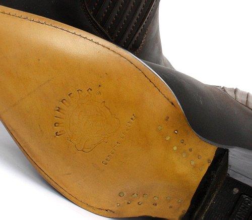 Grinders Mustang Homme Cowboy Bottines, Marron Crazy Horse Dark Brown