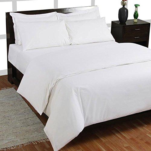 Homescapes 2-teiliges Bettwäsche-Set - 100% Reine Baumwolle, Fadendichte 1000, luxuriöse Perkal-Bettwäsche - Bettbezug 155 x 220 cm mit Kissenbezug 80 x 80 cm, weiß -