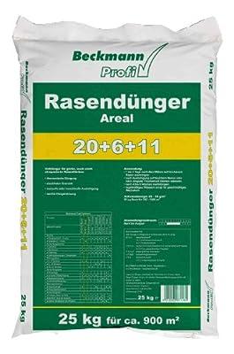 25 kg Premium Rasendünger mit Sofortwirkung 900m² Beckmann Profi Rasen Dünger FREI HAUS von Beckmann - Du und dein Garten
