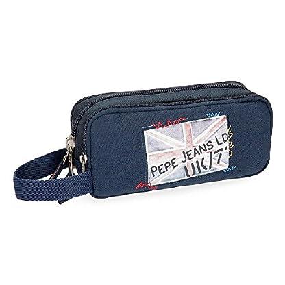Pepe Jeans Scarf Neceser de Viaje, 22 cm, 1.98 Litros, Azul
