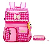 EssVita Kid Child Princess Style School Bags Backpack Waterproof Grils School Rucksackfor Primary Students (Style A Pink including a pencil case)