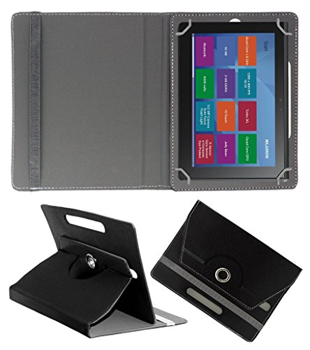 Acm Rotating 360° Leather Flip Case For Milagrow M8 Pro Tablet Cover Stand Black  available at amazon for Rs.189