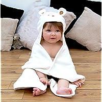 Bathing Bunnies Teddy Baby Towel Cream White