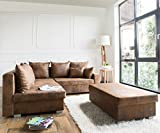 DELIFE Couch Lavello Braun 210x210 Antik Optik Ottomane Links Hocker Ecksofa