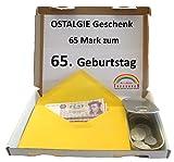 Symbolisch wertvolles Geschenk – 65 DDR Mark* zum 65. Geburtstag (1953) in Dose - OSTALGIE
