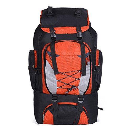 Zaino Militare Tattico Di Xin.S80L Sacchetto Di Attacco Sportivo Esterno Campeggio Di Caccia Escursionismo Grande Borsa Da Alpinismo Grande Capacità Zaino Da Viaggio Orange