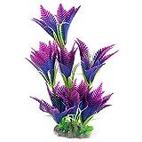 Sourcingmap plastica acquario simulazione pianta acquatica ornamento, 29cm, viola/blu