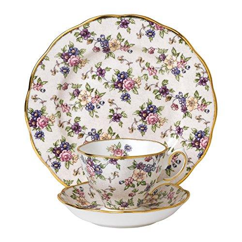 Royal Doulton Teetasse/Untertasse und 20cm English Chintz 4.927,6cm Teller, weiß, 3Stück -