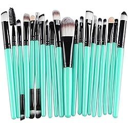 Wtouhe Pinceau De Maquillage, 20Pcs Maquillage Pinceau Set Outils Kit De Trousse De Toilette Maquillage Laine Maquillage Pinceau Ensemble Lady Maquillage 2019 Cadeau D'Anniversaire De Copine