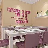 SecondStep Gesicht Wand Zweite Gramm Dint Restaurant Wand Nudeln Schmückt Stereoskopischen 3D-Wand, Mei Rot, Mittel Kreative Wand Aufkleber Mode Wandtattoos Umweltschutz Wandbild Dekoration Flugzeug Dekoratives Material Wallpaper