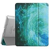 MoKo Hülle für iPad 2/3 / 4 - Ultra Slim Lightweight Smart Cover mit Durchschaubar Rückseite Schutzhülle und Auto Schlaf/Wach Funktion für iPad 2 / The New iPad 3 (3rd Gen) / iPad 4, Swirl