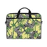 jstel Zebra Laptop Schulter Messenger Tasche Fall Sleeve für 35,6cm zu 39,6cm mit verstellbarer Notebook Schultergurt