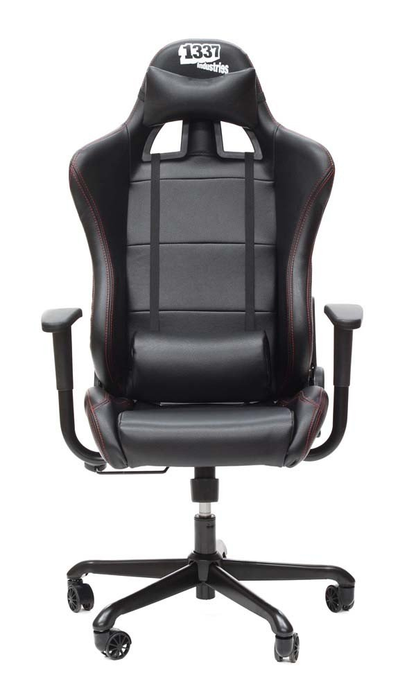 1337 Industries GC707 – Sillón para gaming (PVC, PU), color negro