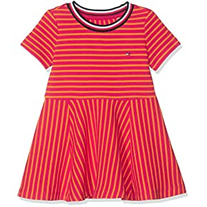 Tommy Hilfiger Stripe Knit Skater Dress Vestido para Bebés 11