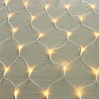 gresonic 100/160/240/320er LED Lichternetz Lichtervorhang Lichterkette Warmweiß Deko Leuchte Innen und Außen Weihnachten Hochzeit mit Stecker (100LED, Dauerlicht)