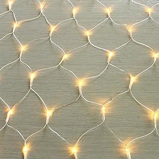 100160240320er-LED-Lichternetz-Lichtervorhang-Lichterkette-Warmwei-Deko-Leuchte-Innen-und-Auen-Weihnachten-Hochzeit-mit-Stecker-gresonic