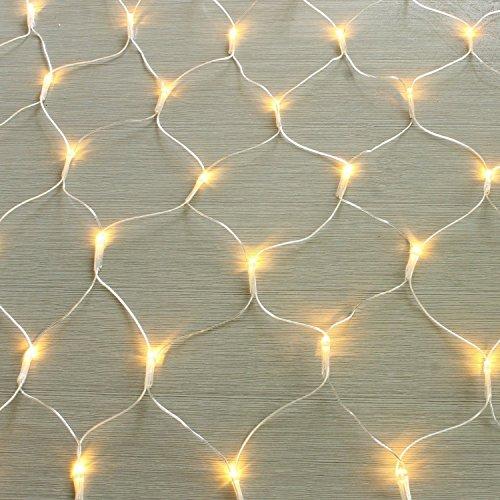 gresonic 100/160/240/320er LED Lichternetz Lichtervorhang Lichterkette Warmweiß Deko Leuchte Innen und Außen Weihnachten Hochzeit mit Stecker (240LED, Dauerlicht)