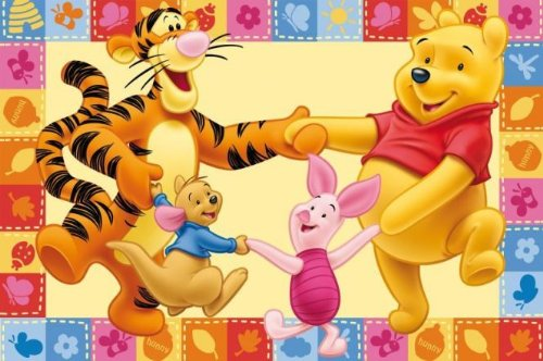 ToyOne Disney Winnie Pooh & Friends Teppich 140x80cm -