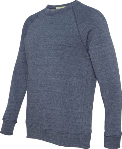 Alternative Apparel Sweatshirt (Alternative Herren Pullover blau Blau (Eco Tru Navy) Medium)