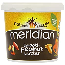 Meridian Natural Smooth Peanut Butter with No Added Salt 1 Kg (1 Unit)