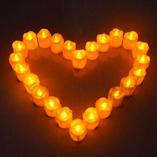 Giftgarden LED Kerzen mit Flammen und ohne Fernbedienung 12 Stück 2.2 Inch Weihnachtsdeko - 2