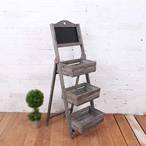 Holz Blume Retro Garten Display Stand Kreative Stand Blumenkasten Antiseptische Pergola...