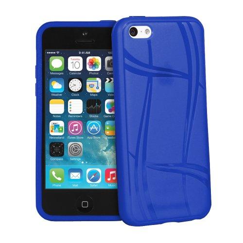 Fosmon DURA-KNIT Knit Entwurf TPU Case Cover hülle für iPhone 5c - Rot dunkelblau