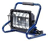 as - Schwabe Mobiler Baustrahler Chip-LED-Strahler mit 2-fach Steckdose, 80 W, blau, 46928