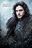 Game of Thrones Grand Poster de Jon Snow en bois - Multicolore.