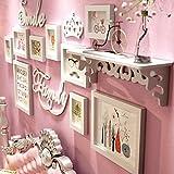LI SHI JIE SHOP Europäische kreative Fotowand des Festen Holzes - Multifunktionsfotorahmenwand - Multibildfotorahmen - DIY Fotorahmenwand (Color : All White)