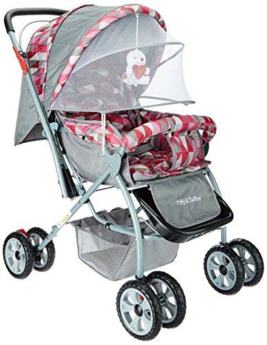 Tiffy & Toffee Baby Stroller Pram Maxtrem (Gray/Orchid)
