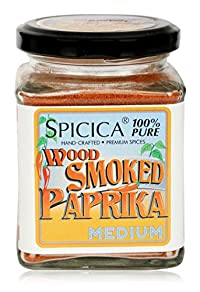 SPICICA Wood Smoked Paprika, 100 grams (Pack of 5)