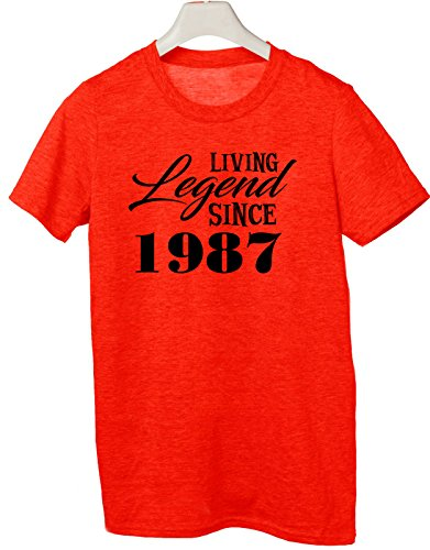 Tshirt Living legend since 1987 - idea regalo - happy birthday - Tutte le taglie by tshirteria Rosso