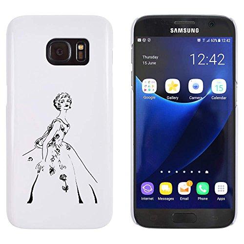 Weiß 'Vierzigerjahre Weinlese-Ballkleid' Hülle für Samsung-Galaxie S7 (MC00009076)