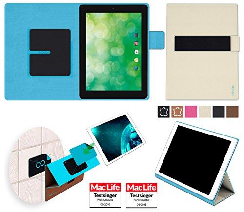 reboon Hülle für Blaupunkt Endeavour 1000 QC Tasche Cover Case Bumper | in Beige | Testsieger