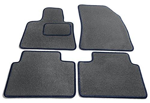 Legacy-schiefer (JediMats 61022L Korfu Maßgeschneiderte Fußmatte für Ihr Auto, Schiefer, Dunkelblau Umrandung)