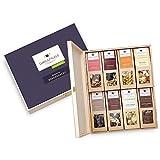 """Geschenk-Box für Männer """"Herrenabend"""": 1 kg Box mit Premium Nüssen und Schokolade in einer wiederverwendbaren, edlen Schmuckverpackung aus Birkenholz. Zum Geburtstag oder als Dankeschön – 8 x Genuss & Freude verschenken: Für jeden Anlass die passende Geschenkidee."""