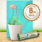Pattumiera bag con coulisse sacchi della spazzatura da cucina 8Gallon 30–60L 20borse, 30L