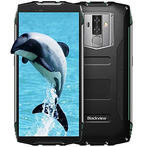 Blackview BV6800Pro Robust Smartphone (2019), IP69K 6580mAh Kabelloses Laden, Outdoor Smartphone Android 8.0 4GB RAM + 64GB, 8MP + 16MP Kameras 18:9 FHD+ 5.7'' Display,Grün (16 Mp Kamera)