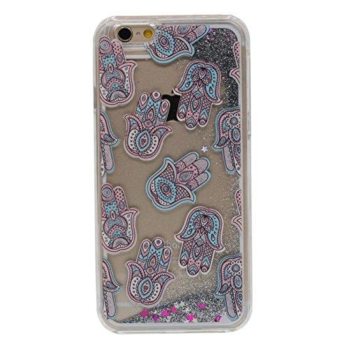iPhone 6S Dur Étui de protection, Flowable Poudre / Liquide Motif Type (Crâne) Coque de Protection Case pour Apple iPhone 6 / 6S 4.7 inch Transparent Case a3