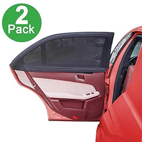 Seite Fenster Sonnenschutz für Auto durch lebogner–Pack of 2Premium Qualität Große Baby Auto Sun Shield, Displayschutzfolie, Blockieren über 98% der schädlichen UV-Strahlen, schützt Kinder und Haustiere von der Sonne Spiegelungen