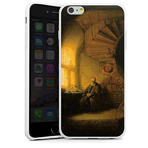 Apple iPhone X Silikon Hülle Case Schutzhülle Rembrandt van Rijn Gemälde Philosopher - in Meditation Silikon Case weiß