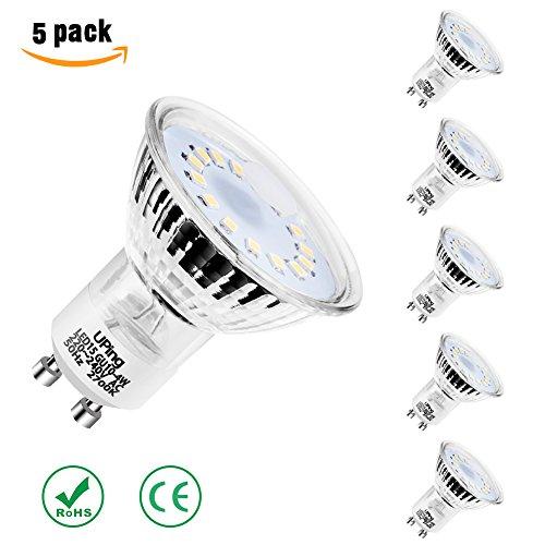 Uping LED Bulb spot lampen MR16 GU10 15 LEDs Reflektor Strahler Leuchte 4W Glühlampe Leuchtmittel ersetzt 50W warmweiß 2700 Kelvin 350 Lumen 120°Abstrahlwinkel fünfer pack
