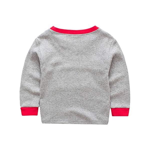Miyanuby Pijamas Bebés Niño Niñas Pijamas Navideños de Algodón Camiseta de Manga Larga de Papá Noel + Pantalones, 2-7… 5