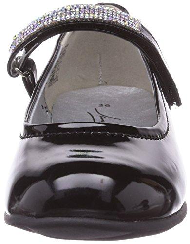 Jane Klain 424 066, Ballerines fermées fille Noir - Schwarz (black patent 007)