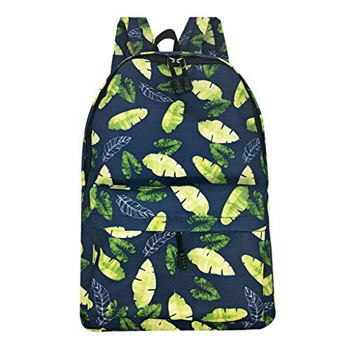 Klassischer Uinsex Gitter Schulrucksack Canvas für Mädchen Student Teenager Fashion Retro Freizeit Plaid Rucksack Für Reise LEEDY (A) -